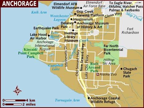 Anchorage AK Map
