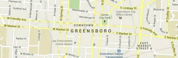Greensboro Map