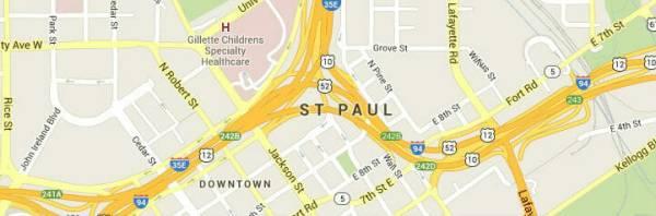 St Paul, MN Map