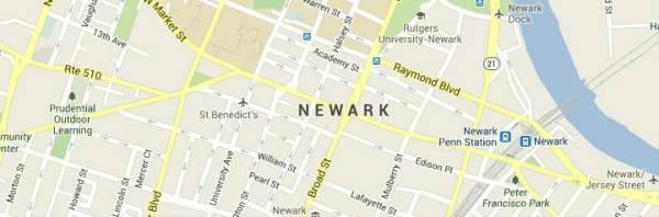 newark newjersey-map
