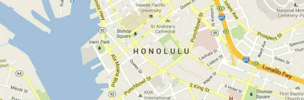 Honolulu-map