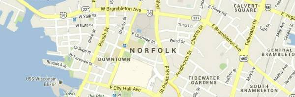 norfolk virginia-map