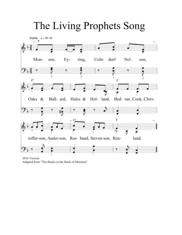 Canción de los Profetas Vivientes 2016