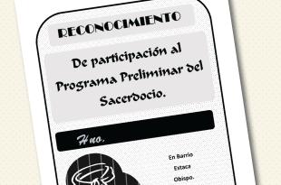 Reconocimiento Preliminar del Sacerdocio - Conexion SUD