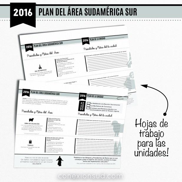 Hoja de Trabajo para el Plan del Area Sudamerica Sur 2016 - ConexionSUD