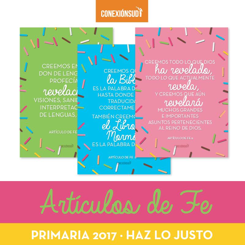 Articulos de Fe Primaria 2017 - ConexionSUD