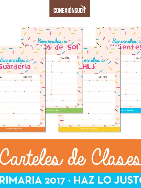 Carteles de Clases - Primaria 2017 - ConexionSUD