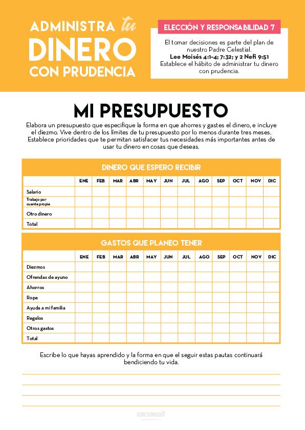 administra tu dinero con prudencia - Elección y Responsabilidad 7