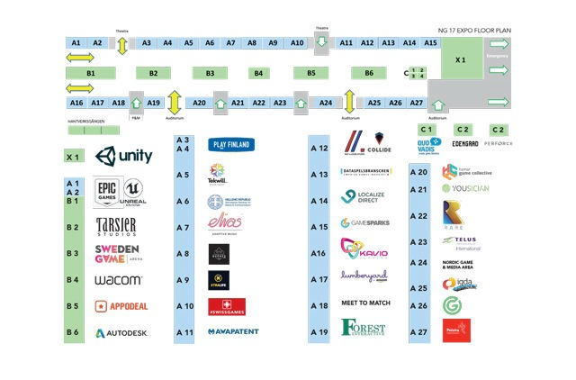NG17, Expo floor plan