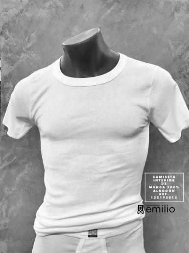 camiseta interior de manga corta - hombre