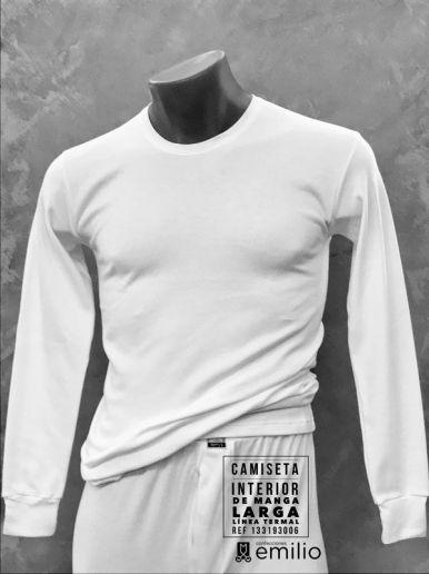 camiseta interior manga larga - hombre