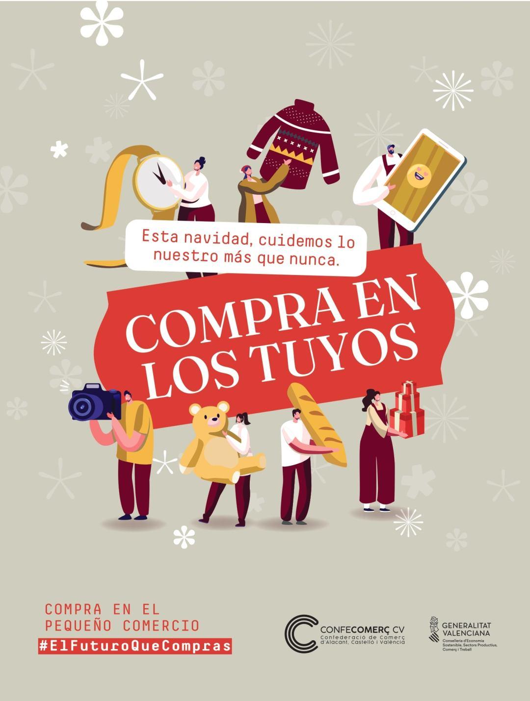 campaña navidad comrpa en los tuyos