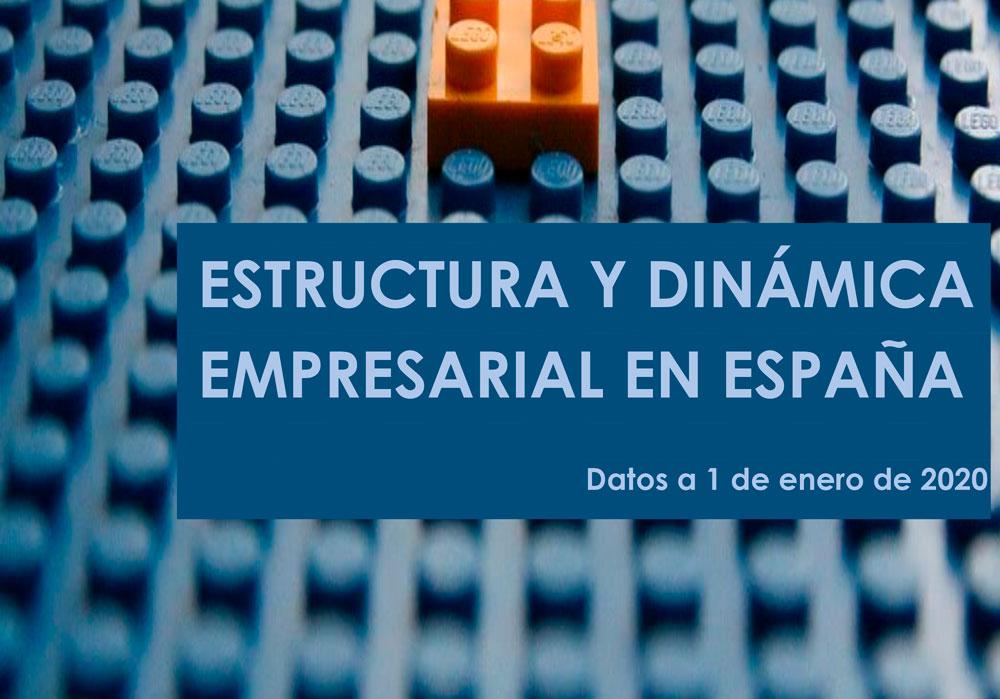 Estructura y dinámica empresarial en España (Datos a 1 de enero de 2020)