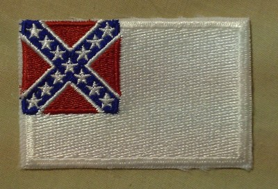confederate flag - second national flag - patch - excellent quality