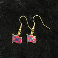 Confederate Battleflag/Jack Earrings - Confederate Shop