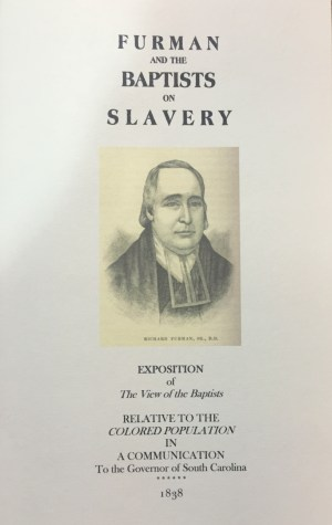 furman and the baptists on slavery