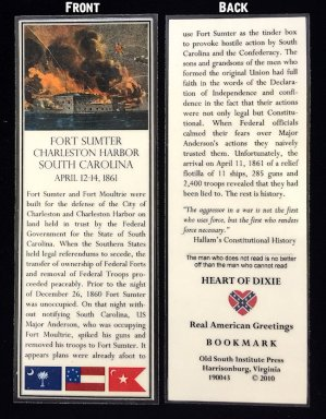 fort sumter bookmark