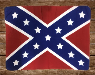 rebel flag blanket, throw