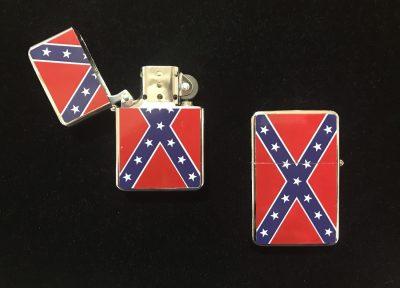 confederate rebel flag zippo cigarette lighter