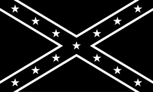 black white confederate flag