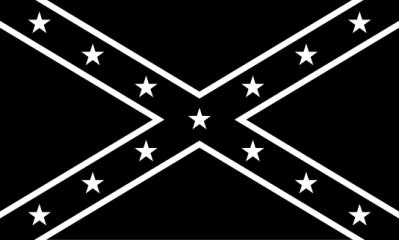 black white confederate flag