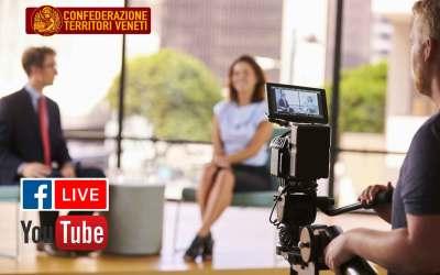 Novità: a breve nuove Video-interviste in Diretta Facebook e Youtube