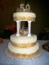 Torta de Bodas de Ouro
