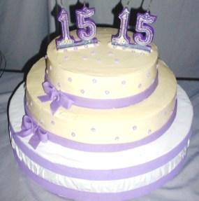 Torta de 15 anos