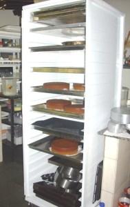 Armário para descanço das tortas