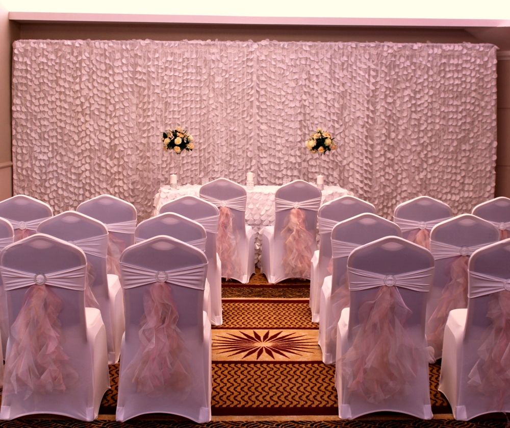 couture chair covers and events for lower back support bespoke head table package at the auction civil ceremony venue luton