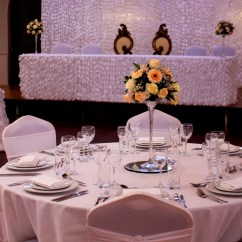 Couture Chair Covers And Events Revolving Godrej Bespoke Head Table Package At The Auction Wedding Venue Luton
