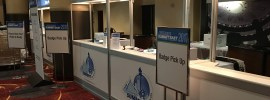 Check-in early at conferences