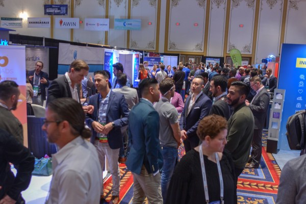 Exhibit hall at Affiliate Summit West 2018
