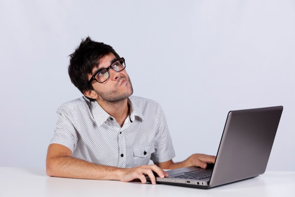 some guy on his computer