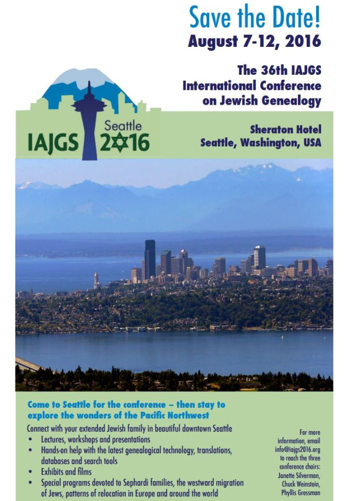 36th IAJGS Conference 2016