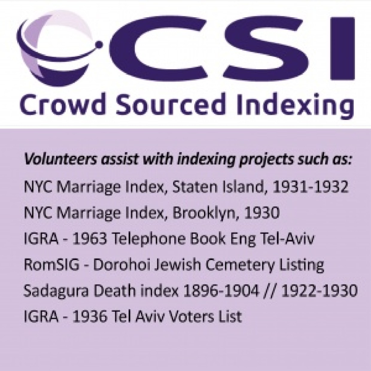 genealogy volunteer indexing