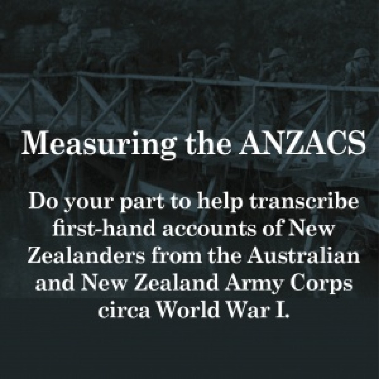 genealogy volunteer anzac transcriptions