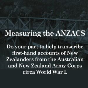 genealogy volunteer anzac transcriptions