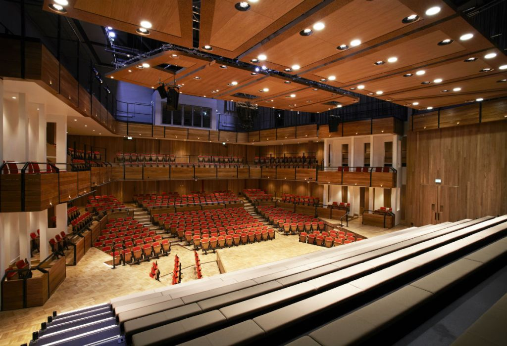 View from the stage, The Elgar concert hall