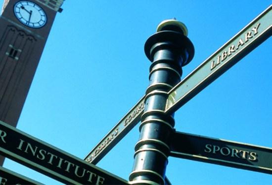 university-of-birmingham-directions-signage