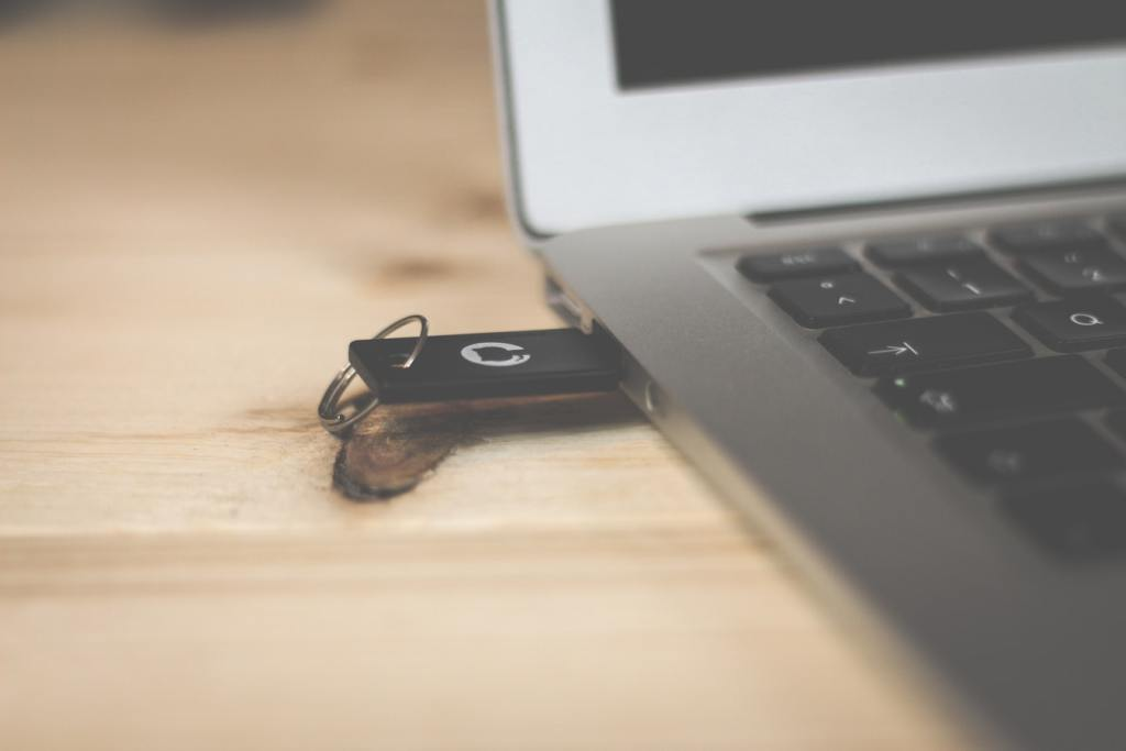 USB stick in a laptop
