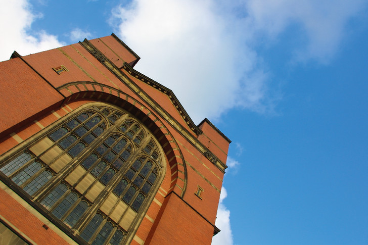 Looking up at Aston Webb