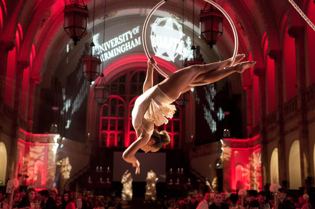 Performer in the great hall