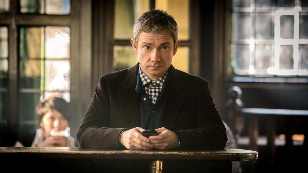Martin Freeman as Dr Watson from Sherlock