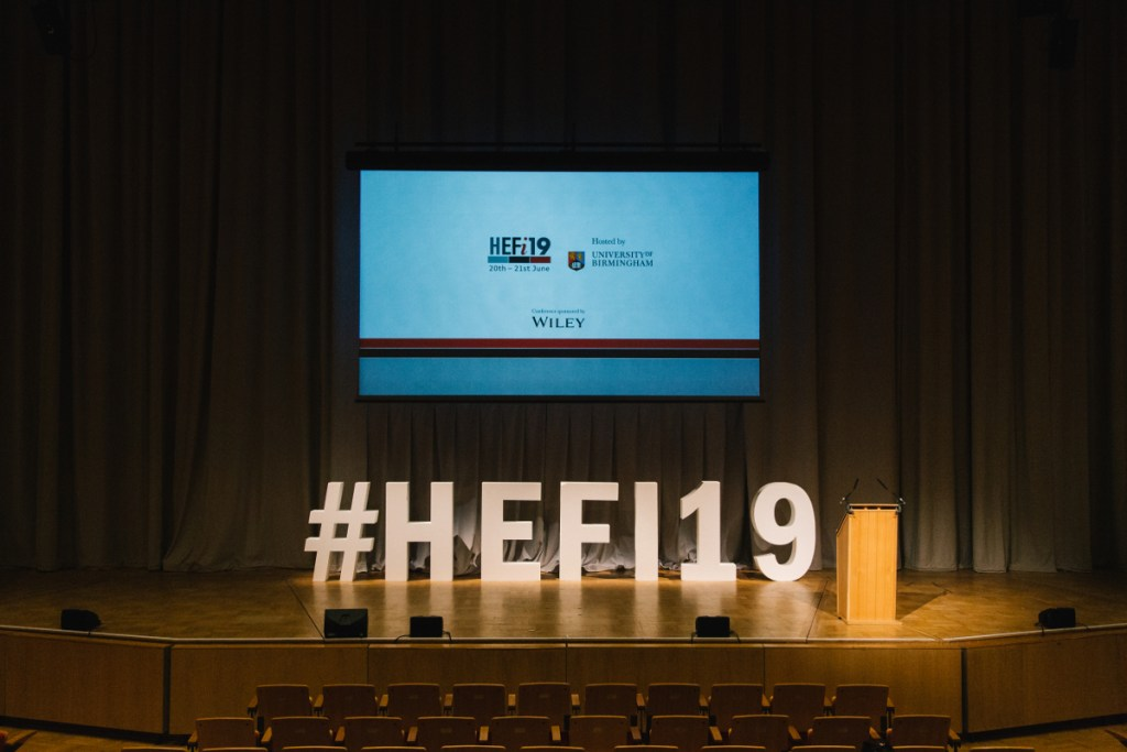 HEFi19 stage setup at the Bramall