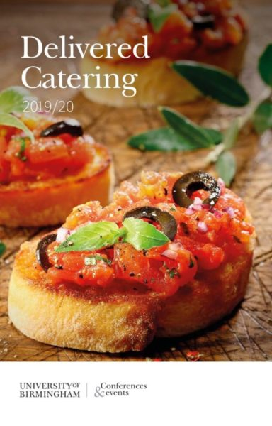 Delivered catering menu
