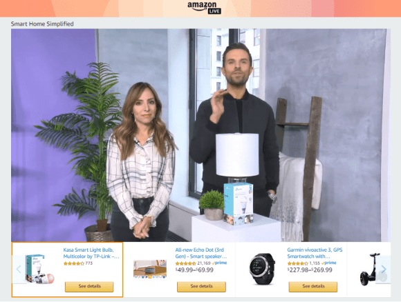 What is Live-Stream Shopping? Amazon Live Live-Video
