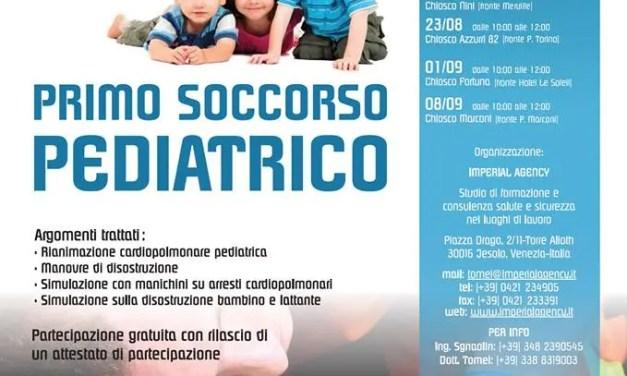 Litorale: per tutta l'estate corsi di primo soccorso pediatrico