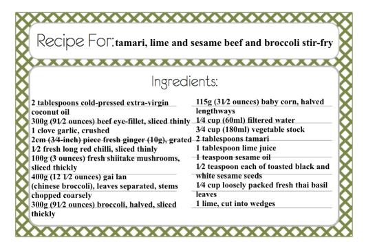 tamari, lime and sesame beef and broccoli stir-fry2