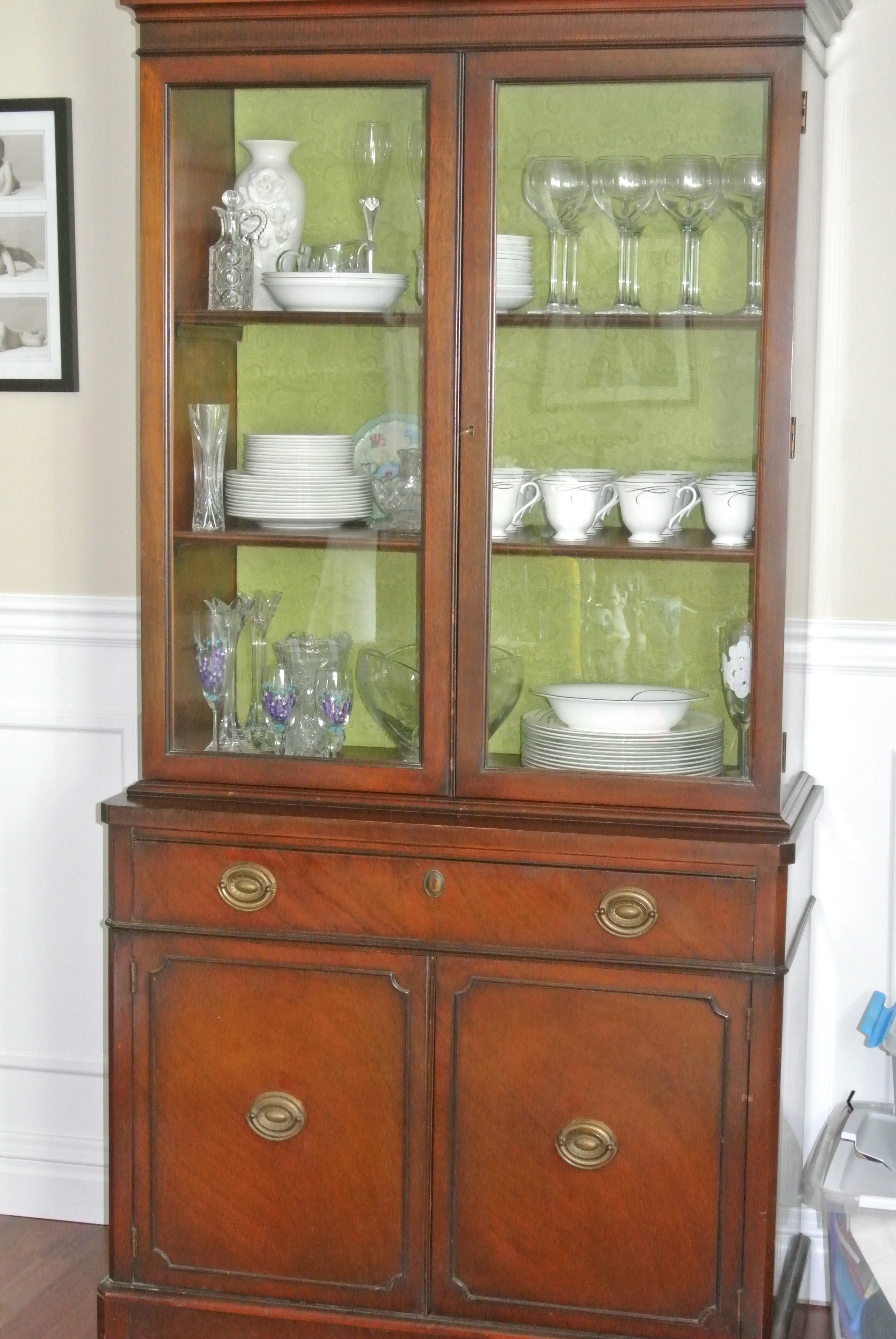 Easy DIY Update Revamped China Cabinet  Confessions of a